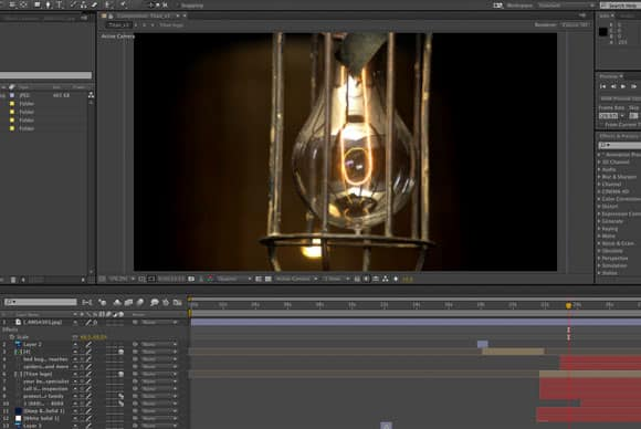 After Effects Editing Screen