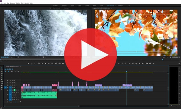 Adobe Premiere Editing Screen